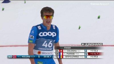 Oberstdorf 2021 - Ski de fond 15 km technique libre : Clément Parisse 14e et premier français !