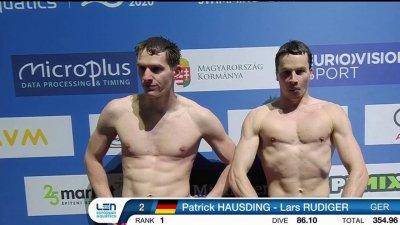 Plongeon synchronisé messieurs 3m : le duo allemand au-dessus du lot