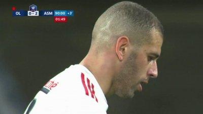 Coupe de France : la volée de Slimani flirte avec le cadre !