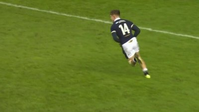 Graham inscrit le premier essai du match pour l'Ecosse