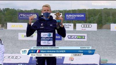 Marc-Antoine Olivier médaillé d'argent en 10 km eau libre