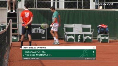 Hugo Gaston solide dans sa première manche