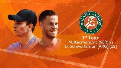 M. Kecmanovic (SER) vs D. Schwartzman (ARG) - 1er tour - Court Simonne-Mathieu