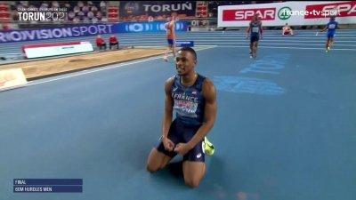 Torun 2021 : Wilhem Belocian champion d'Europe du 60m haies !!!