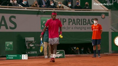 N. Djokovic (SRB) vs M. Ymer (SUE) - 1er tour - Court Philippe-Chatrier