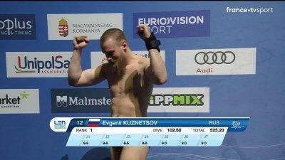 Evgenii Kuznetsov champion d'Europe du plongeon 3 m