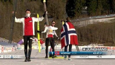 Oberstdorf 2021 – Combiné nordique par équipes hommes : la Norvège poursuit sa moisson d'or !