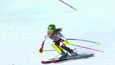 Cortina 2021 - Slalom dames : Katharina Liensberger réalise le meilleur temps