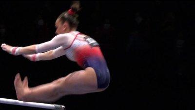 Championnats d'Europe de gymnastique artistique : la chute de Sheyen Petit aux barres asymétriques