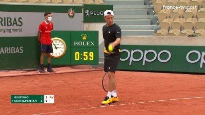 L. Giustino (ITA) vs D. Schwartzman (ARG) - 2e tour - Court Simonne-Mathieu