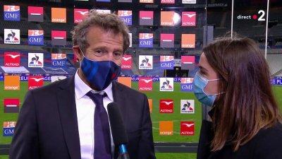 Fabien Galthié très satisfait de la performance des Bleus