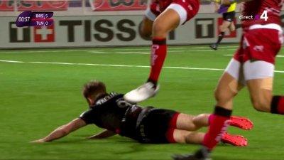 15 secondes de jeu et Toulon concède un premier essai