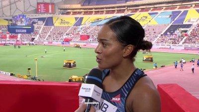 """Doha 2019 / Orlann Ombissa-Dzangue : """"Comme si je n'étais pas dedans"""""""