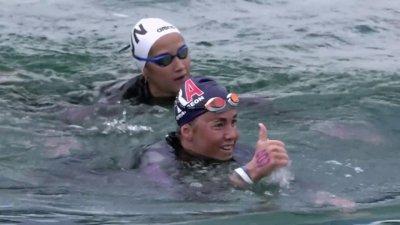 Lara Grangeon médaille d'argent 25 km eau libre