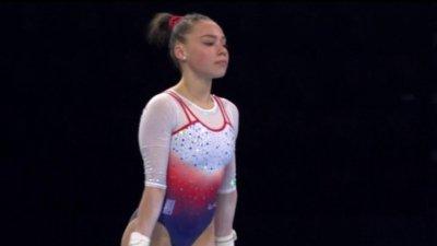 Championnats d'Europe de gymnastique artistique : La très belle prestation de la jeune Sheyen Petit au sol