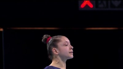 Championnats d'Europe de gymnastique artistique : Carolann Héduit réussit un passage au sol séduisant