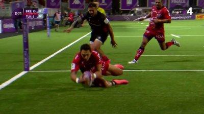 Toulon réagit avec un essai de Bryce Heem