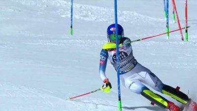 Cortina 2021 - Slalom dames : Mikaela Shiffrin rate sa première manche