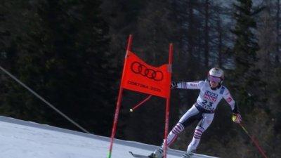 Cortina 2021 – Slalom géant dames : Coralie Frasse Sombet réalise une excellente 2e manche
