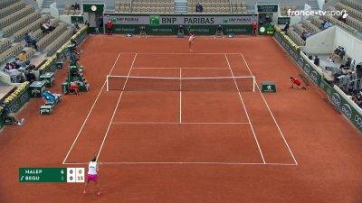S. Halep (ROU) [1] vs I. Begu (ROU) - 2e tour - Court Suzanne-Lenglen