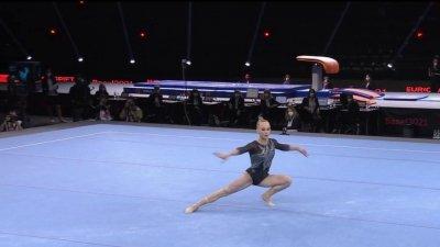 Championnats d'Europe de gymnastique artistique : La performance éblouissante de Melnikova au sol