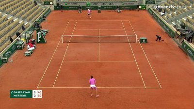M. Gasparyan (RUS) vs E. Mertens (BEL) - 1er tour - Court Simonne-Mathieu
