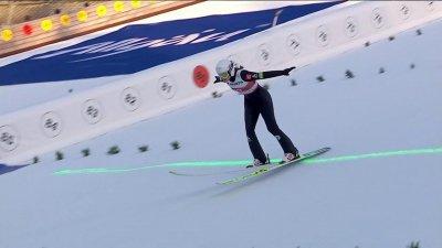Oberstdorf 2021 : Joséphine Pagnier rentre parfaitement dans son concours