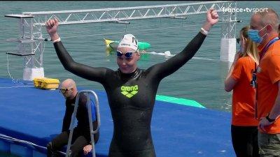 Sharon van Rouwendaal sacrée sur le 5 km eau libre dames ! Océane Cassignol remporte le bronze