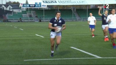 Le XV de France féminin craque et l'Écosse recolle au score