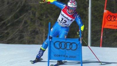 Cortina 2021 – Slalom géant hommes : Luca De Aliprandini talonne Alexis Pinturault