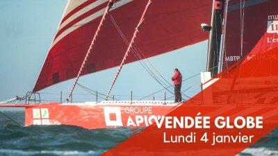 Journal du Vendée Globe : Lundi 4 janvier