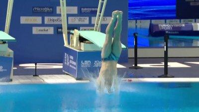 Les plongeons d'Alexis Jandard qualifié en finale du plongeon 1 m individuel messieurs