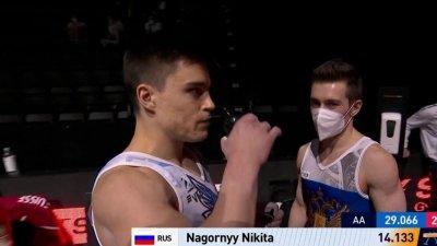 Championnats d'Europe de gymnastique artistique : le duel est lancé entre les deux Russes après le cheval d'arçons