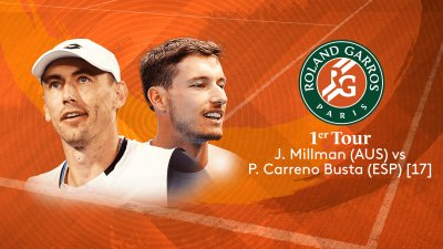 J. Millman (AUS) vs P. Carreno Busta (ESP) - 1er tour - Court n°14