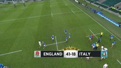 L'Angleterre s'impose 41-18 face à l'Italie