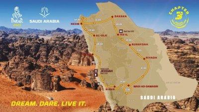 Parcours du Dakar 2021