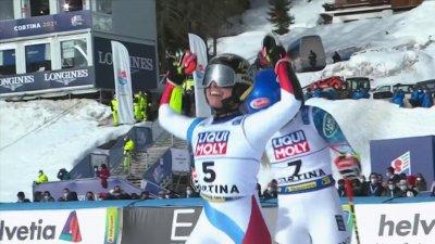 Cortina 2021 - Slalom géant dames : Mikaela Shiffrin battue pour 2 centièmes par Lara Gut-Behrami !