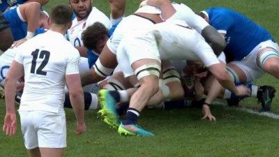 L'Angleterre revient dans le match avec un essai en force