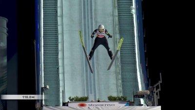 Oberstdorf 2021 - Saut à ski concours individuel féminin HS137 : un deuxième saut à 110 mètres pour Joséphine Pagnier !