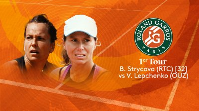 B. Strycova (RTC) vs V. Lepchenko (USA) - 1er tour - Court n°14