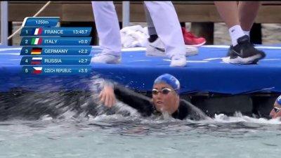 Relais 5km en eau libre : la France en tête après le premier relais