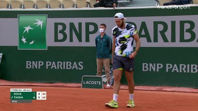 J. Sock (USA) vs D. Thiem (AUT) [3] - 2e tour - Court Suzanne-Lenglen