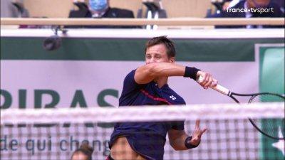 N. Djokovic (SRB) vs R. Berankis (LTU) - 2e tour - Court Philippe Chatrier