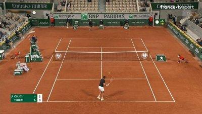 M. Cilic (CRO) vs D. Thiem (AUT) - 1er tour - Court Philippe-Chatrier
