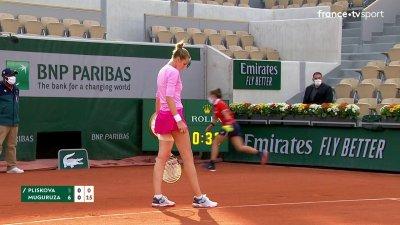 K. Pliskova (RTC) vs G. Muguruza (ESP) [11] - 2e tour - Court Suzanne-Lenglen