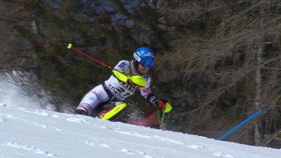 Cortina 2021 - Slalom dames : Nastasia Noens dans le top 10 de la manche 1