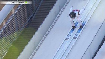 Oberstdorf 2021 – Combiné nordique hommes par équipes petit tremplin : Premier saut pour l'équipe de France