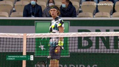 A. Davidovich Fokina (ESP) vs A. Rublev (RUS) [13] - 2e tour - Court Simonne-Mathieu