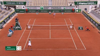 B. Pera (USA) vs A. Anisimova (USA) [25] - 2e tour - Court Philippe-Chatrier