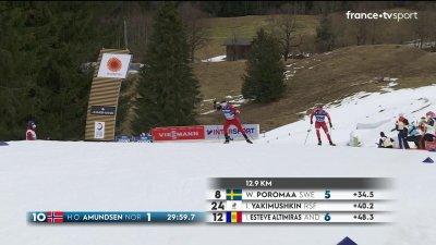 Oberstdorf 2021 - Ski de fond 15 km technique libre : Bolshunov craque !